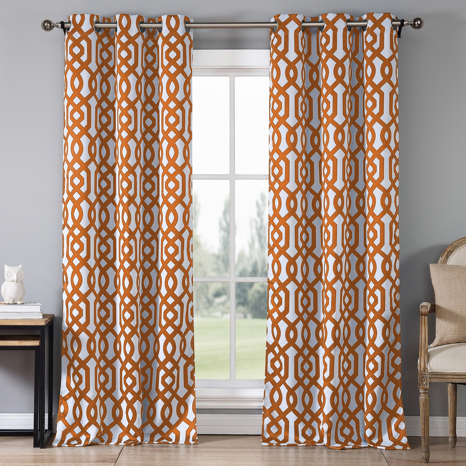 Duck River Ashmont Printed Blackout Grommet Pair Curtain Panel