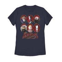 Addams Family Women's Portrait Panels T-Shirt