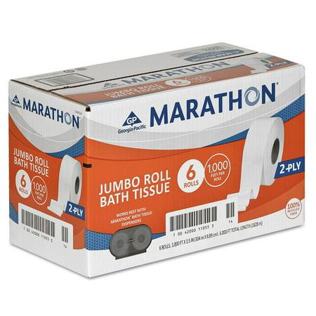 Product of Marathon Bath Tissue, 2-Ply (6 Jumbo Rolls) - Toilet Paper [Bulk Savings] (Paper Products In Bulk)