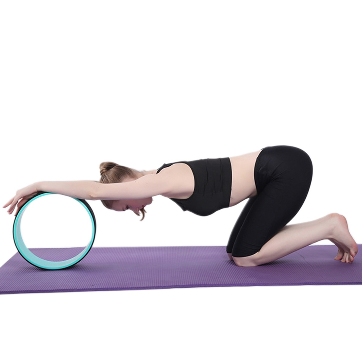 Perfect for Dharma Pose Spine Back Bends /& Stretching Thick Cushion Comfy Degree Airchy Yoga Wheel for Back Pain Durable Back Roller Prop Wheel