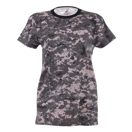 Urban T-shirt Designs - Rothco Womens Long Length Camouflage T-Shirt, Subdued Urban Digital Camo