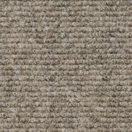 Indoor/Outdoor Carpet with Rubber Marine Backing - Brown 6' x 10' - Several Sizes Available - Carpet Flooring for Patio, Porch, Deck, Boat, Basement or (Best Flooring For Basement Workout Room)