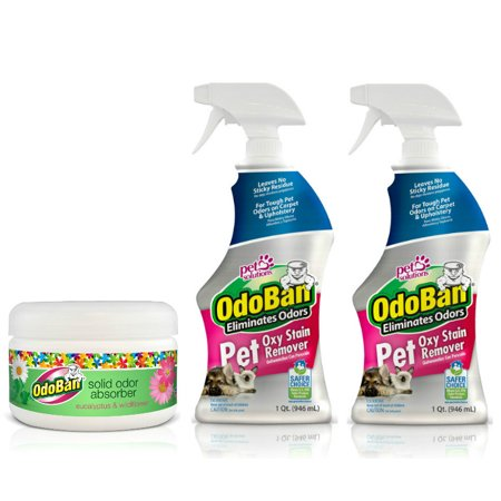 - Odoban Pet Oxy Stain Remover 32oz Spray Bottle 2-Pack and Solid Odor Absorber