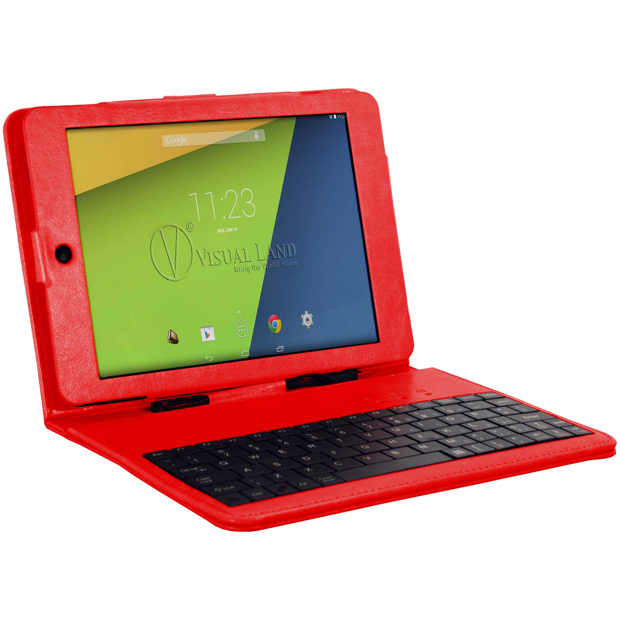 "Visual Land 8"" Tablet 8GB Quad Core includes Keyboard Case"