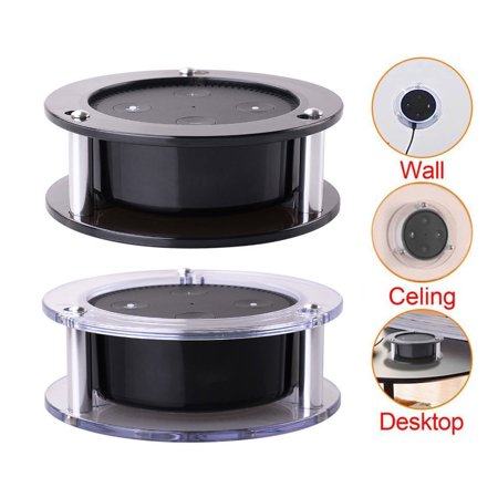 Acrylic Ceiling Wall Mount for Echo Dot 2nd Generation Free 24-month Warranty Speaker Stand Stable Guard Holder Pack of 1 (Random