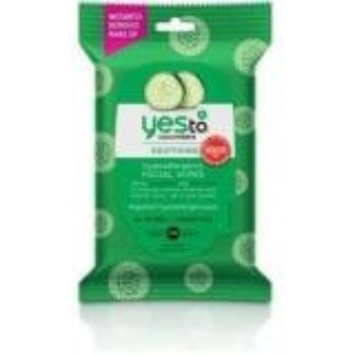 Yes To Cucumbers Hypoallergenic Facial Wipes 10 Ct - Travel Size - Facial Wipes - Clean Skin - Hypoallergenic - All- Natural - Soothing Ingredients - Cucumber Green Tea Aloe - Sensitive Skin (3371028)
