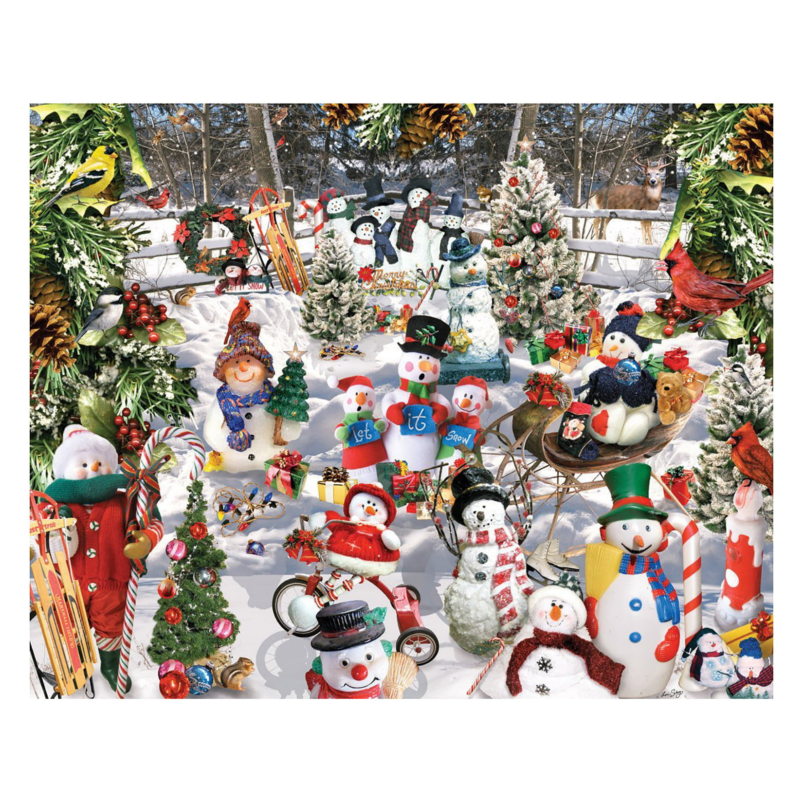 White Mountain Puzzles Snowmen 1000 Piece Jigsaw Puzzle by White Mountain Puzzles