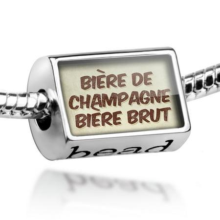 Bead Bière de Champagne Bière Brut Beer, Vintage style Charm Fits All European Bracelets