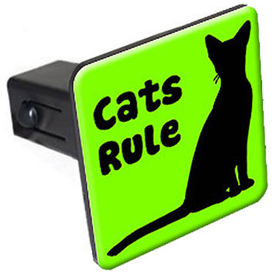 """Cats Rule 1.25"""" Tow Trailer Hitch Cover Plug Insert by Graphics and More"""