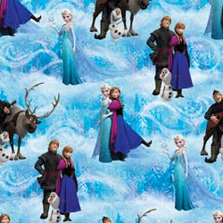 "Frozen-Scenic 43/44"" Wide 100% Cotton D/R-Frozen Character Scenic"