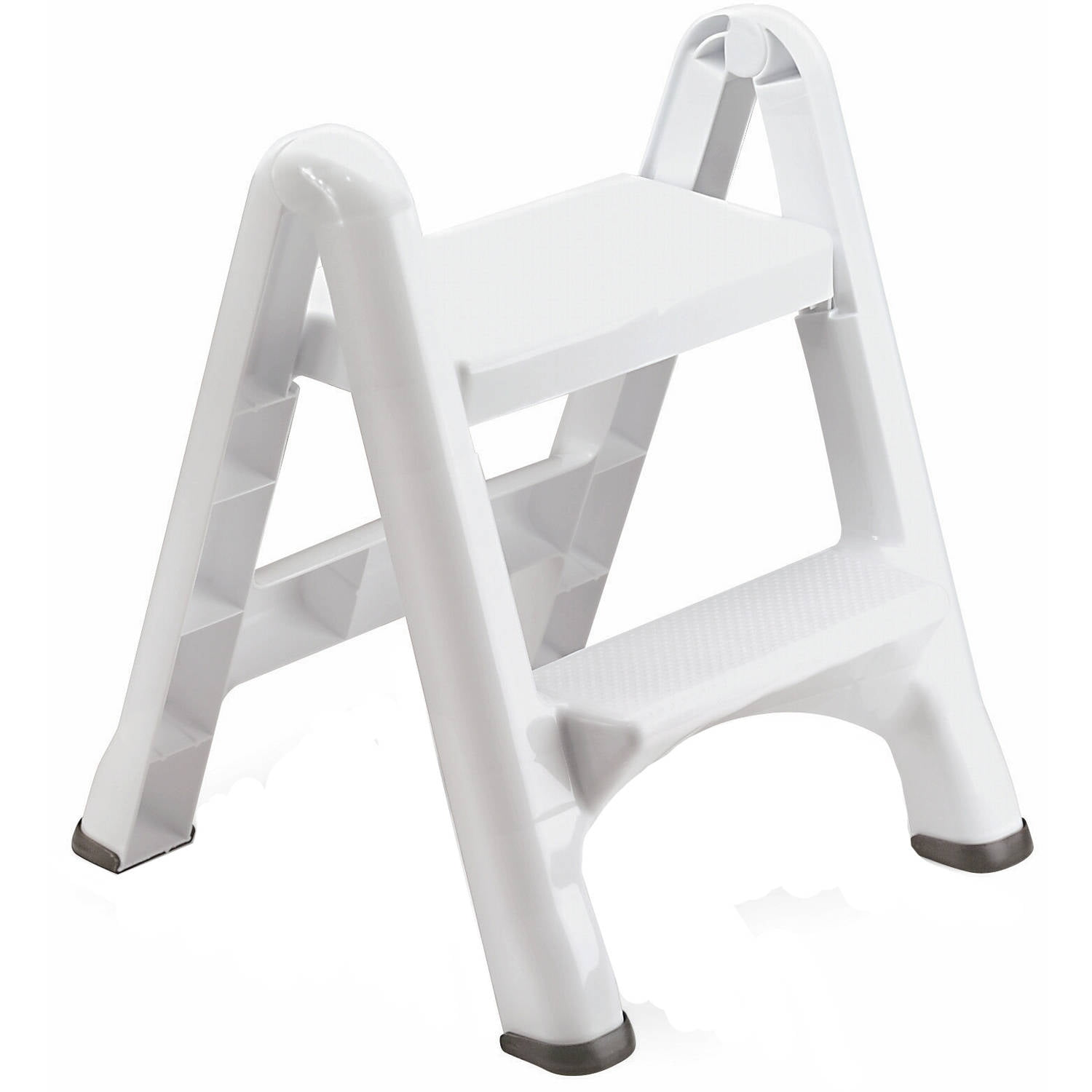 Rubbermaid Folding 2 Tier Step Stool Walmart Com