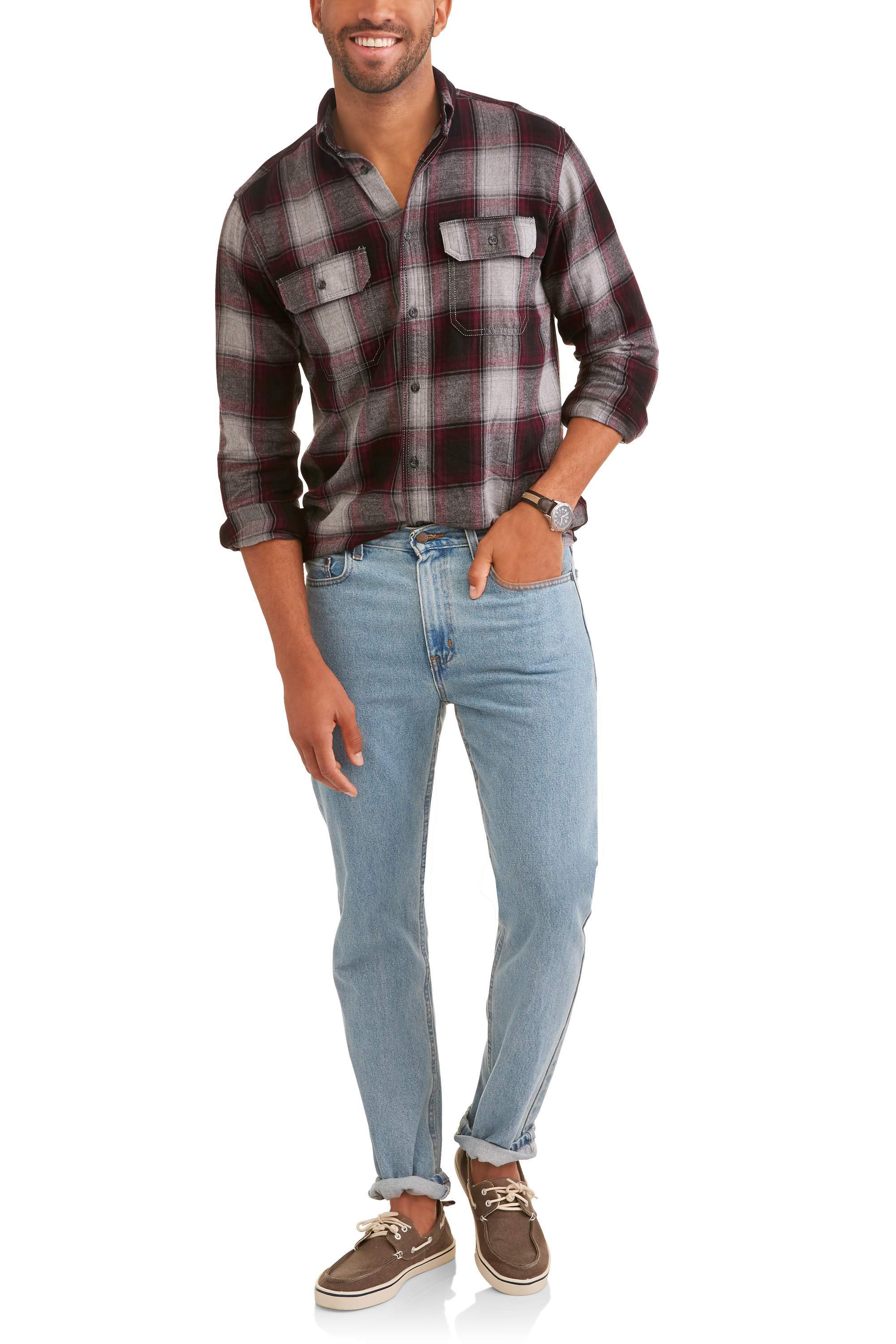 Faded Glory Big and Tall Men's Long Sleeve Flannel Shirt