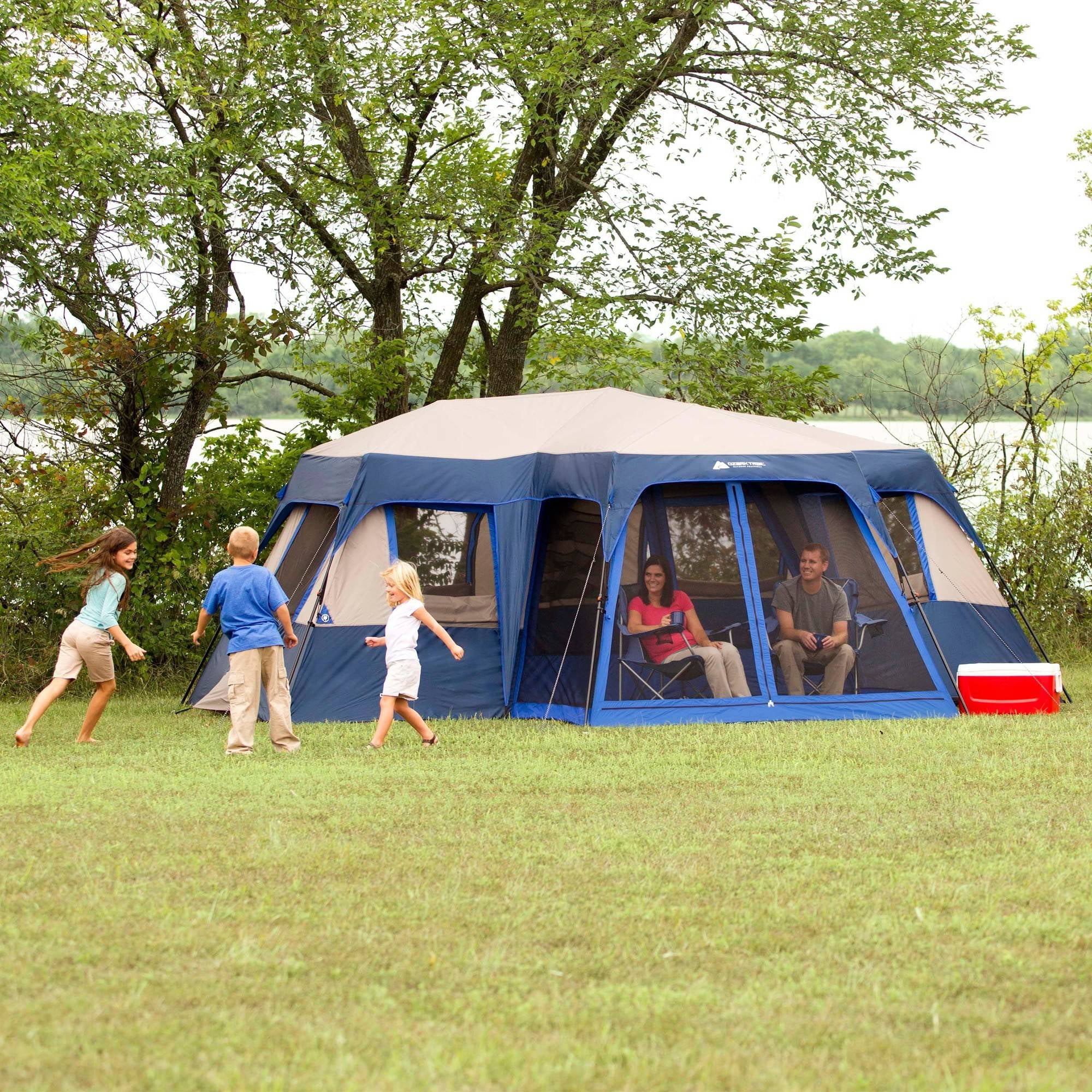 Ozark Trail 12 Person 2 Room Instant Cabin Tent with Screen Room - Walmart.com & Ozark Trail 12 Person 2 Room Instant Cabin Tent with Screen Room ...