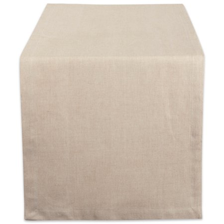 DII Natural Solid Chambray Table Runner, 108