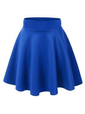 MBJ Womens Basic Versatile Strechy Flare Skater Skirt