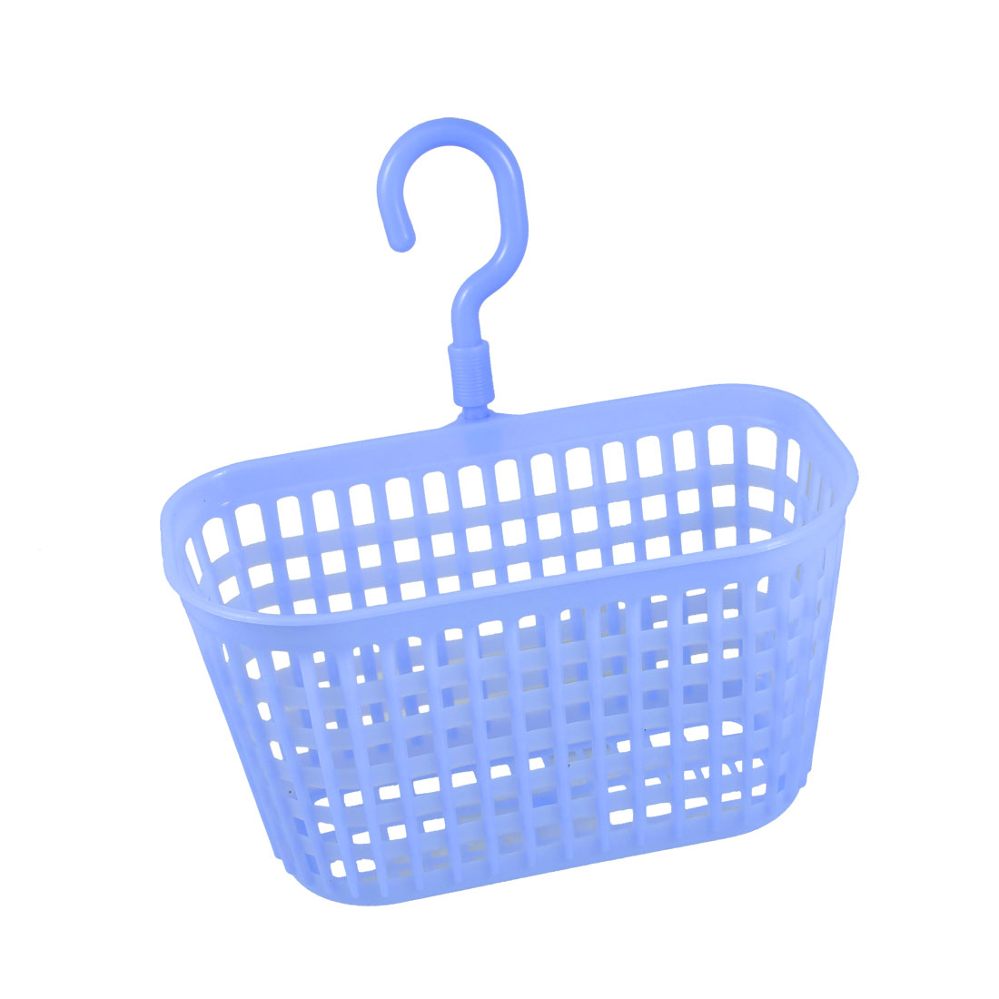 Plastic Kitchen Laundry Room Hook Basket Holding Container Light Blue