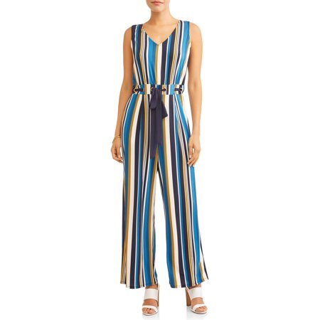 Wrapper Women's Striped Jumpsuit with - Vault Jumpsuit For Sale