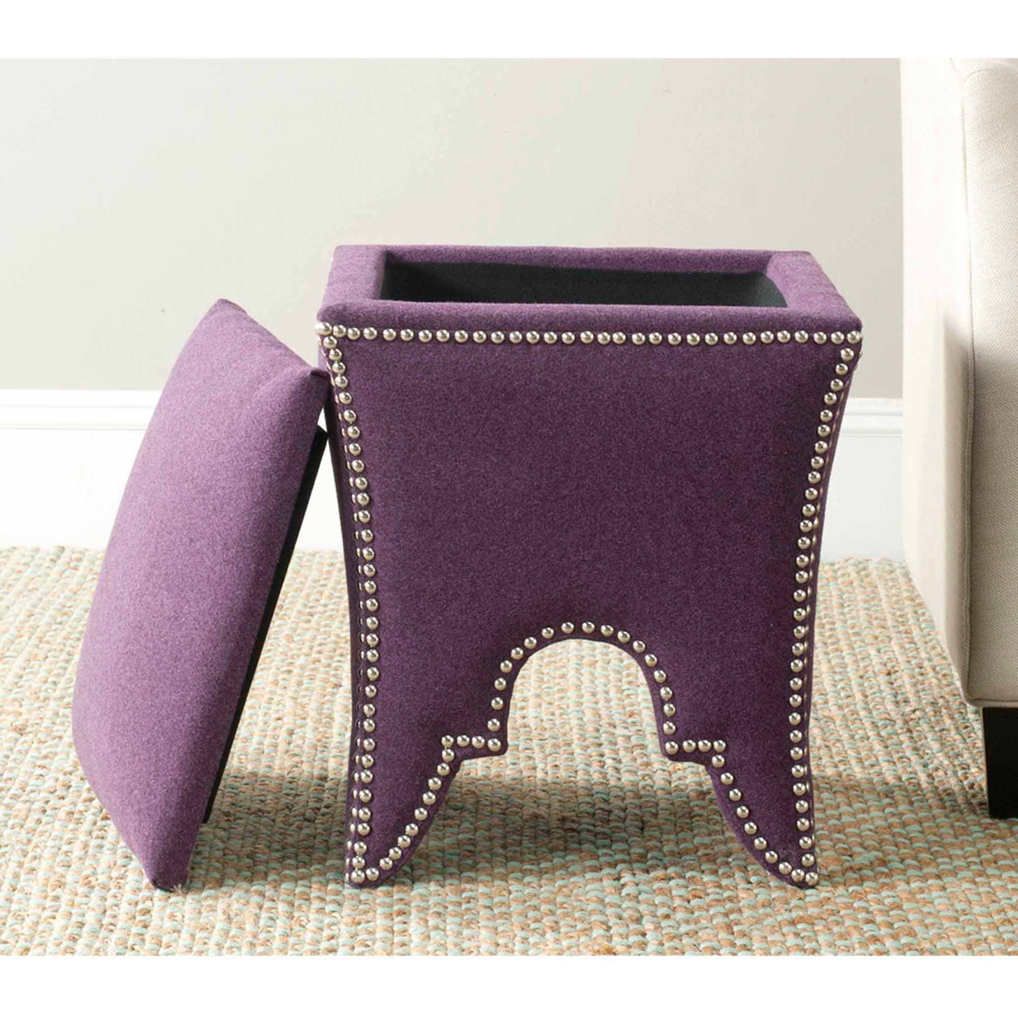 Safavieh Deidra Upholstered Ottoman, Multiple Colors