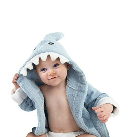 Baby Classic Blue Terry Shark Robe, Blue, 0-9 Months + Yes to Tomatoes Moisturizing Single Use Mask](Angry Baby Mask)