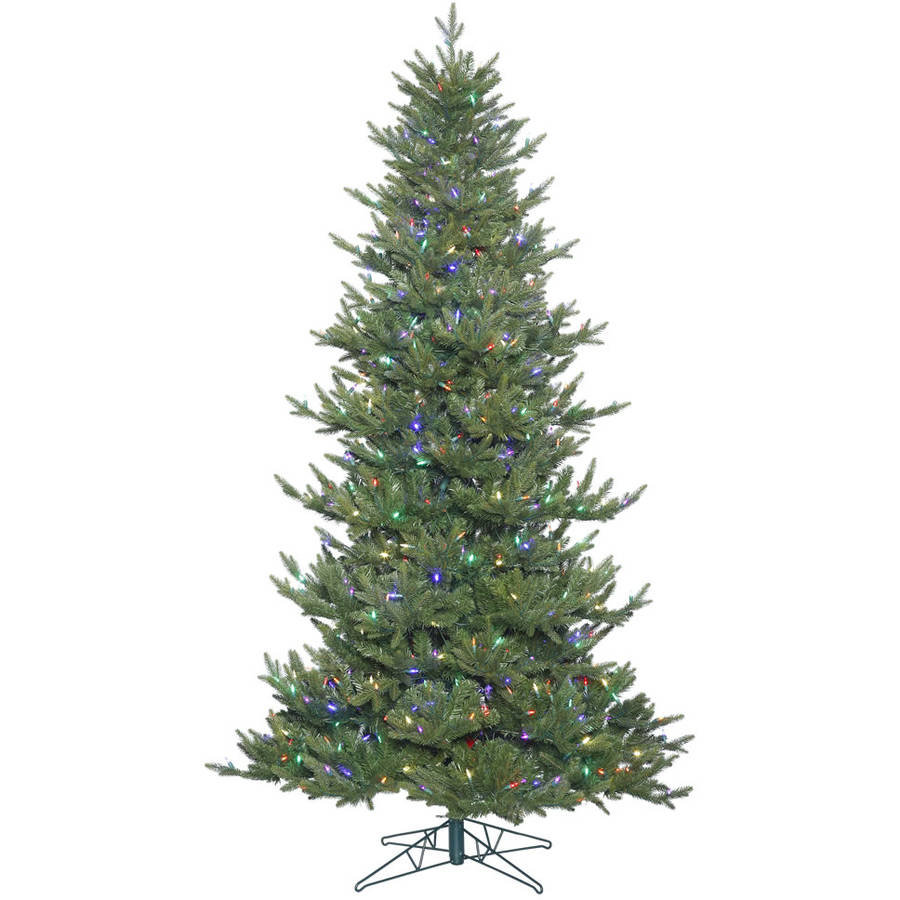 Vickerman 4.5' Hawthorne Frasier Fir Artificial Christmas Tree with 300 Multi-Colored LED Lights