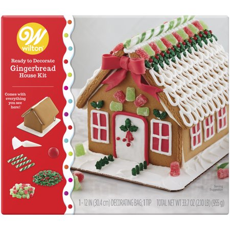 - Wilton Ready-to-Decorate Gingerbread House Decorating Kit, Medium Traditional