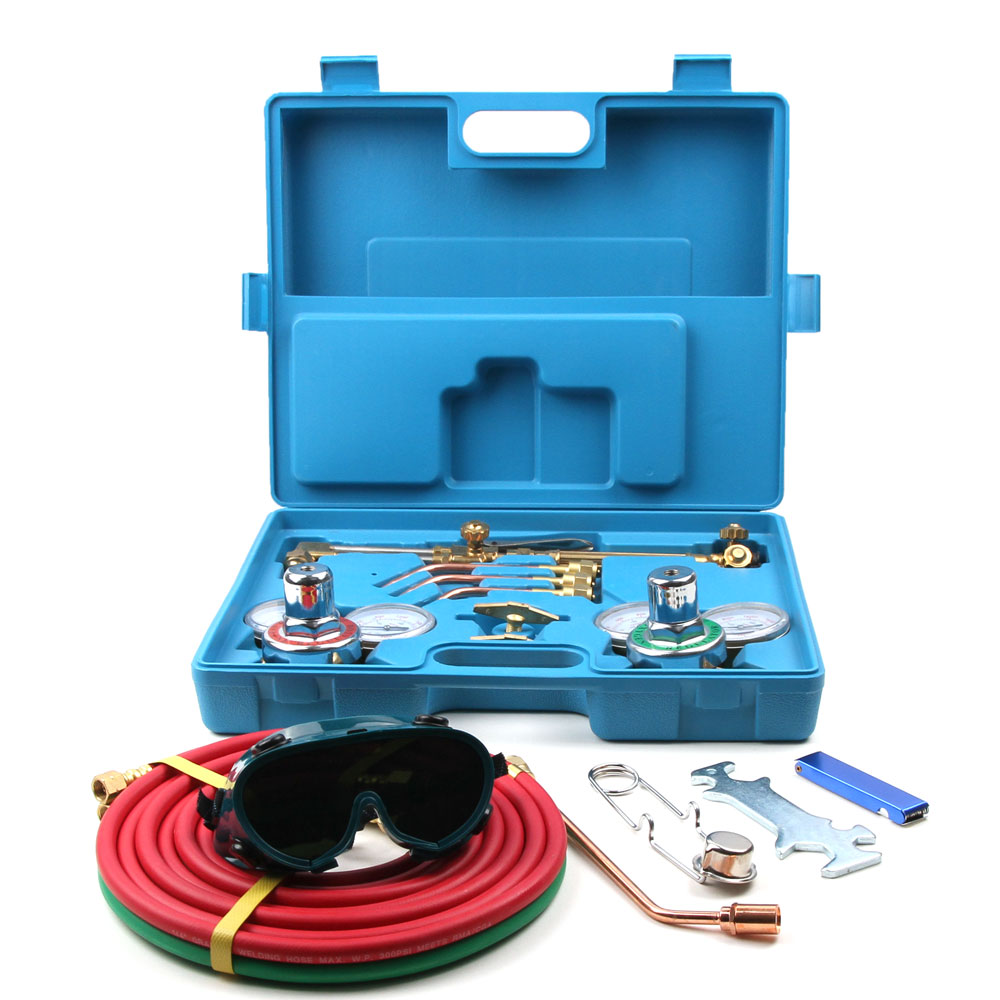 Ktaxon Gas Welding Cutting Welder Kit Tool Victor Oxy Acetylene Oxygen Torch with 15' Hose Case
