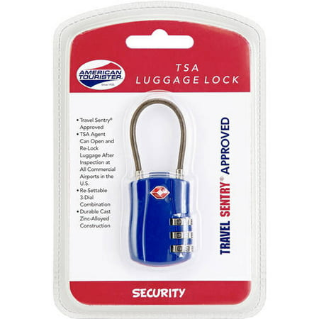 American Tourister Resettable 3 Dial and Key Security Lock, Multiple