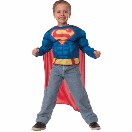 Superman Teen Costume (Superman Muscle Shirt Child Halloween)