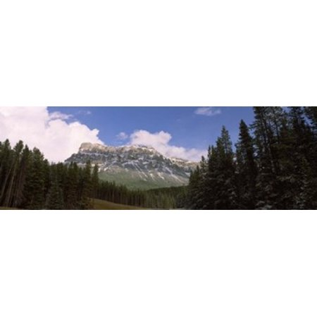 Low angle view of a mountain Protection Mountain Bow Valley Parkway Banff National Park Alberta Canada Canvas Art - Panoramic Images (36 x