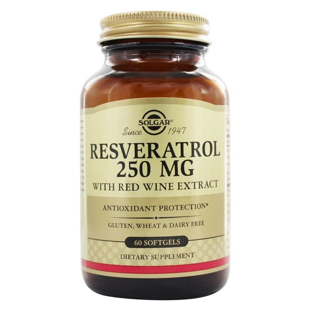 Solgar Resveratrol With Red Wine Extract 250 Mg 60 Softgels