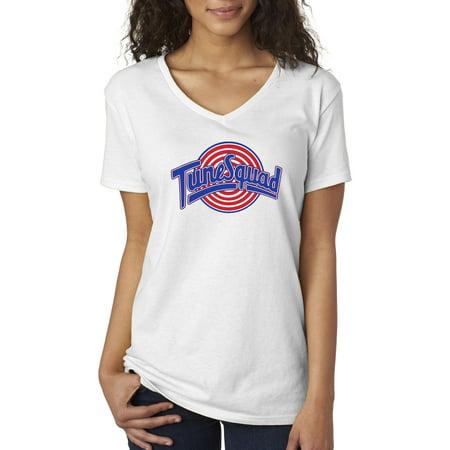c75f03078aa8 New Way - New Way 487 - Women s V-Neck T-Shirt Tune Squad Space Jam  Basketball Team - Walmart.com