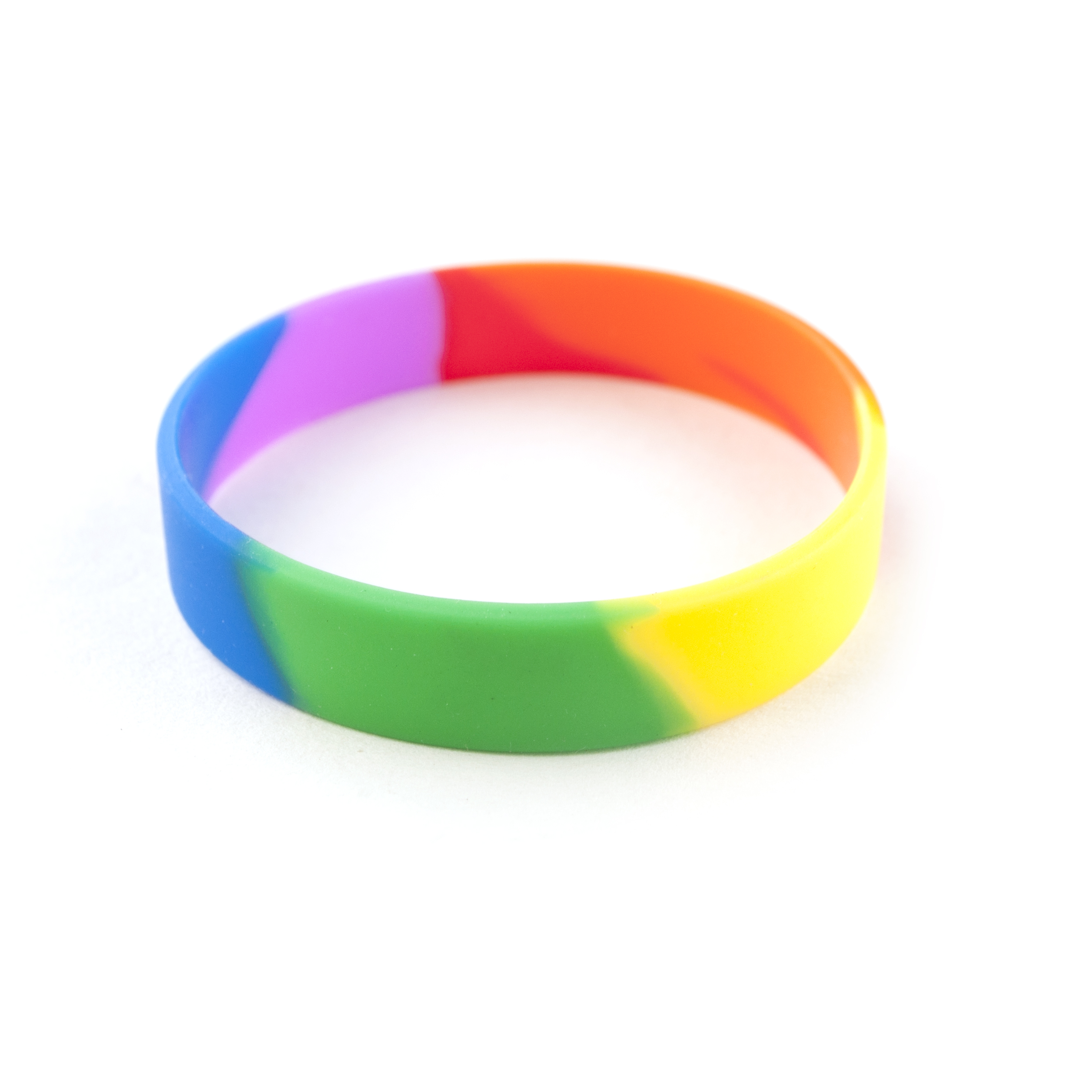 Gogo 600pcs Silicone Bracelets Sized Rubber Band Wristbands For Party Rainbow