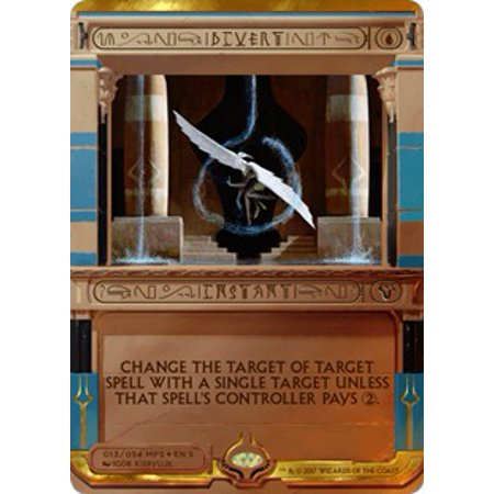 MtG Masterpiece Divert [Amonkhet Invocation] Change the target of target spell with a single target unless that spell's controller pays 2.