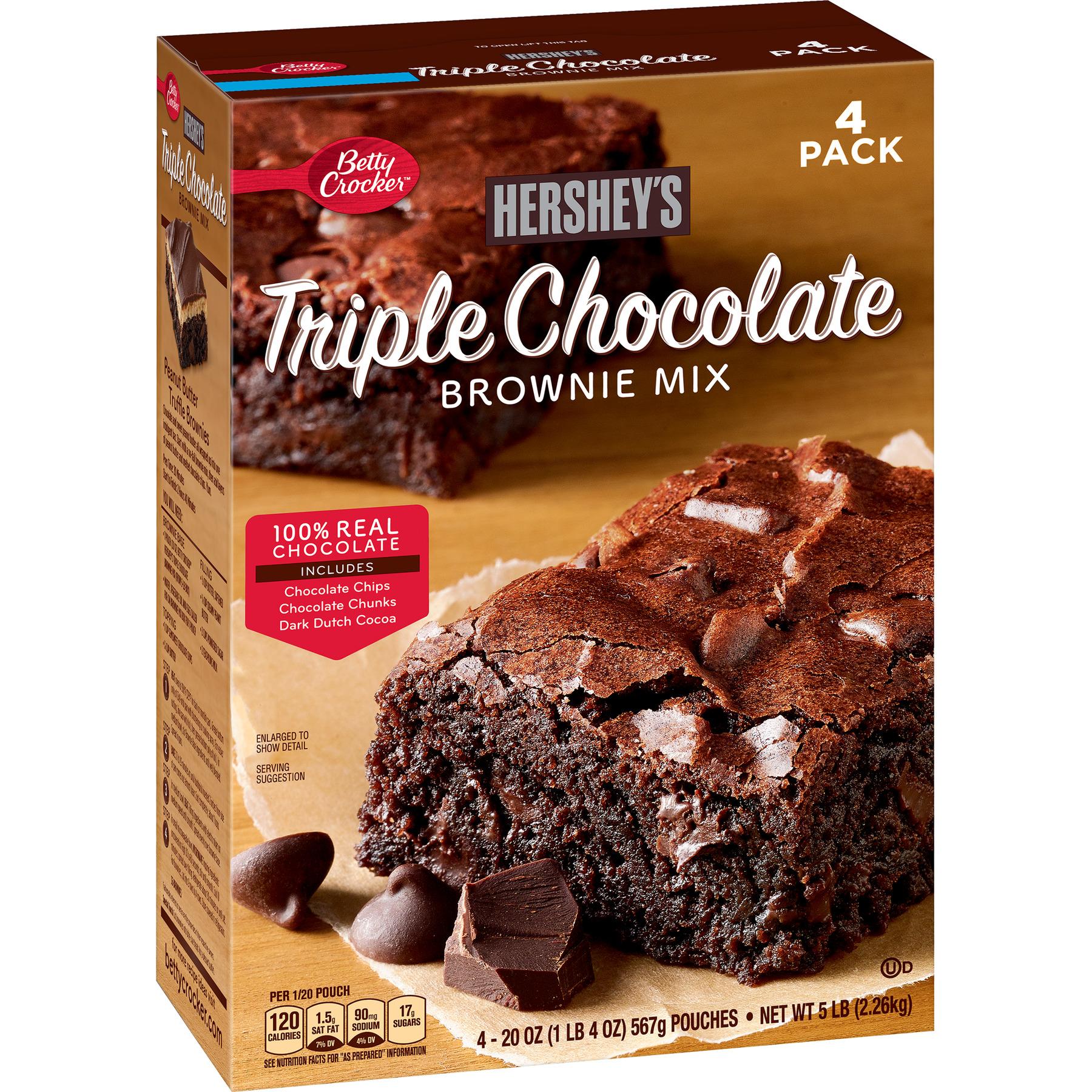 Betty Crocker Hershey S Triple Chocolate Brownie Mix 80 Oz Walmart Com Walmart Com