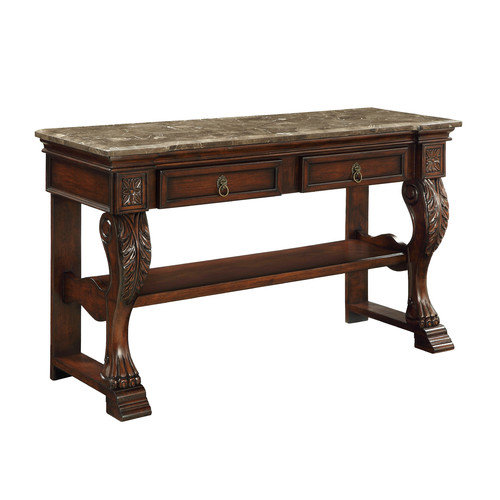 Coast to Coast Imports, LLC Treasure Trove Accents Dodson Brown Two Drawer Console Table