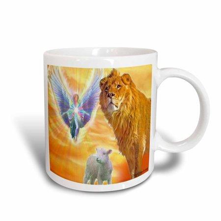 3dRose The Lamb of God, Ceramic Mug, 11-ounce