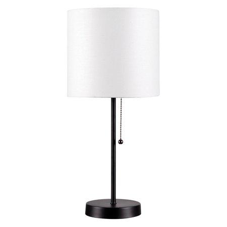 Kenroy Home Table Tom Black White Table Lamp