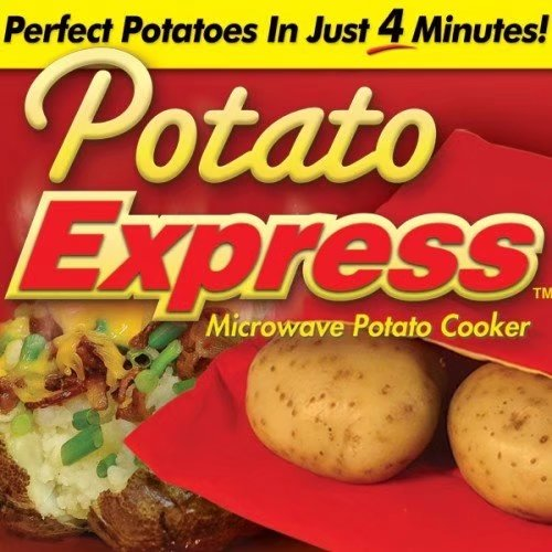 (2 Pack )Microwave Potato Cooker Potato Express & Easy Eggwich Microwave Cooker Potato Express Microwave Bag Cooker Red