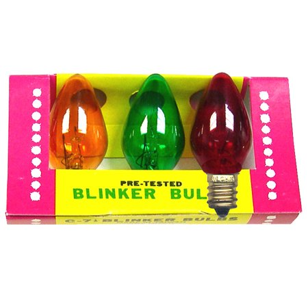 Blinking Christmas Bulbs In Sets Of 3 Popular Colors (5 Sets)