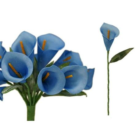 BalsaCircle 60 Single Stem Artificial Mini Calla Lilies - DIY Home Wedding Party Silk Flowers Bouquets Arrangements Centerpieces
