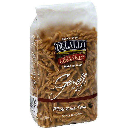 DeLallo Whole Wheat Gemelli Pasta, 16 oz (Pack of 16)