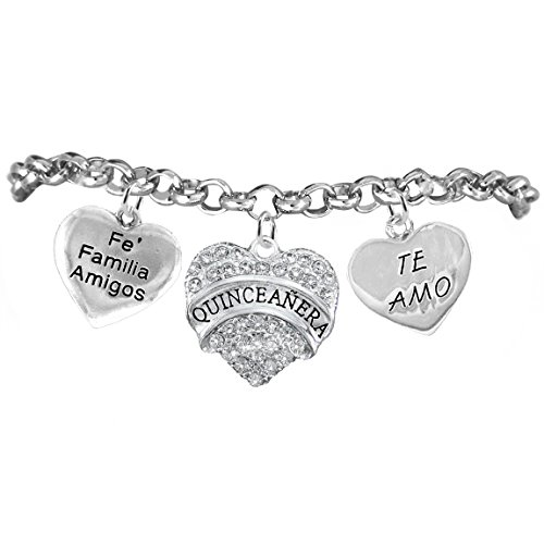 The Perfect Gift, Quinceanera ©2015 Hypoallergenic Bracelet, Safe-Nickel, Lead, & Cadmium Free!