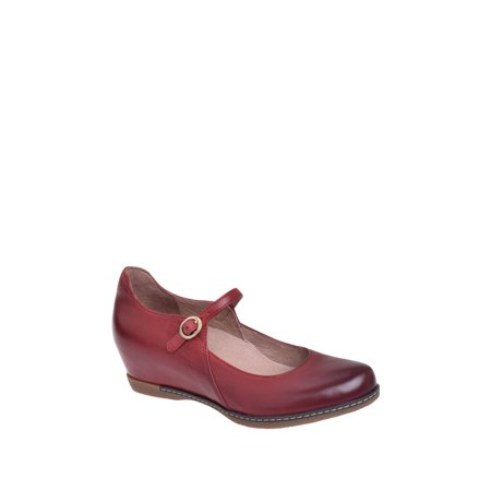 Dansko Loralie Mid Wedge Mary Jane Loafer - Red Nubuck ()