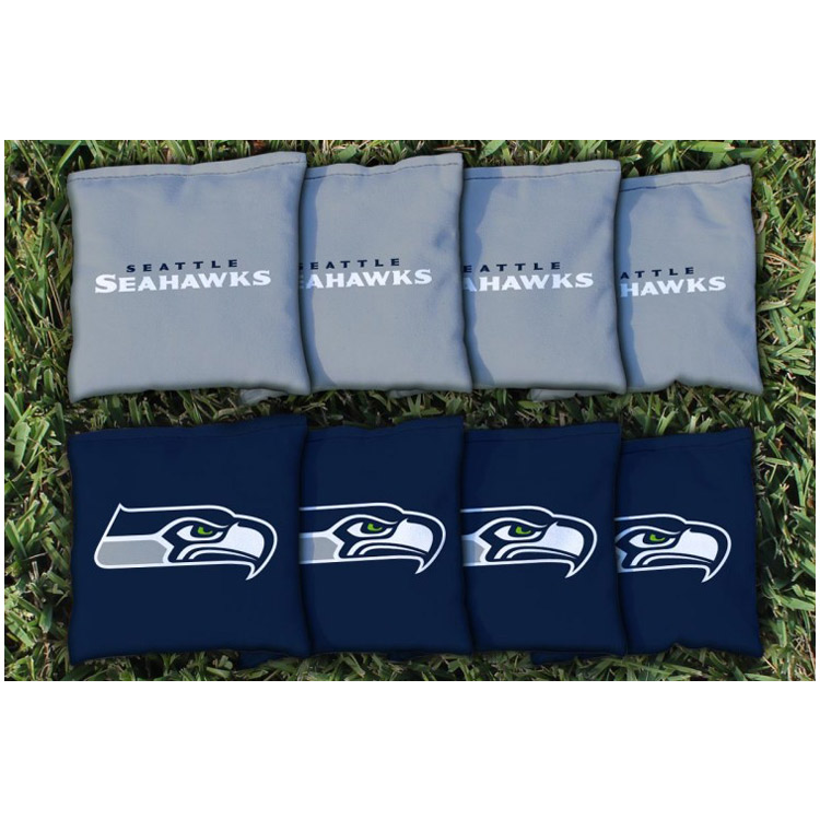 Seattle Seahawks Replacement Corn-Filled Cornhole Bag Set - No Size
