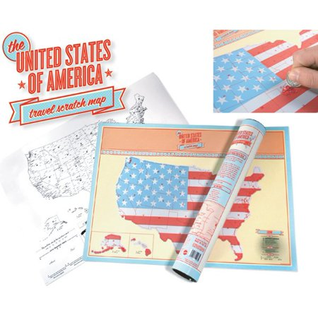 United States of America Travel Tracker Scratch Off USA Map Poster ...