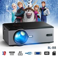 Home Movie Projector 1080P Multimedia Video Projector Home Theater Cinema Support VGA USB AV SD HDMI TV