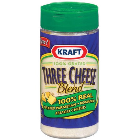 Kraft Grated Cheese Three Cheese Blend, 8 oz
