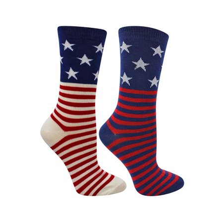 3f803b1601 Luxury Divas - Stars & Stripes American Flag Womens 2 Pack Crew ...