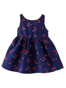 f8321f04350 Product Image StylesILove Sweet Princess Cherry Print Sleeveless A-line  Dress