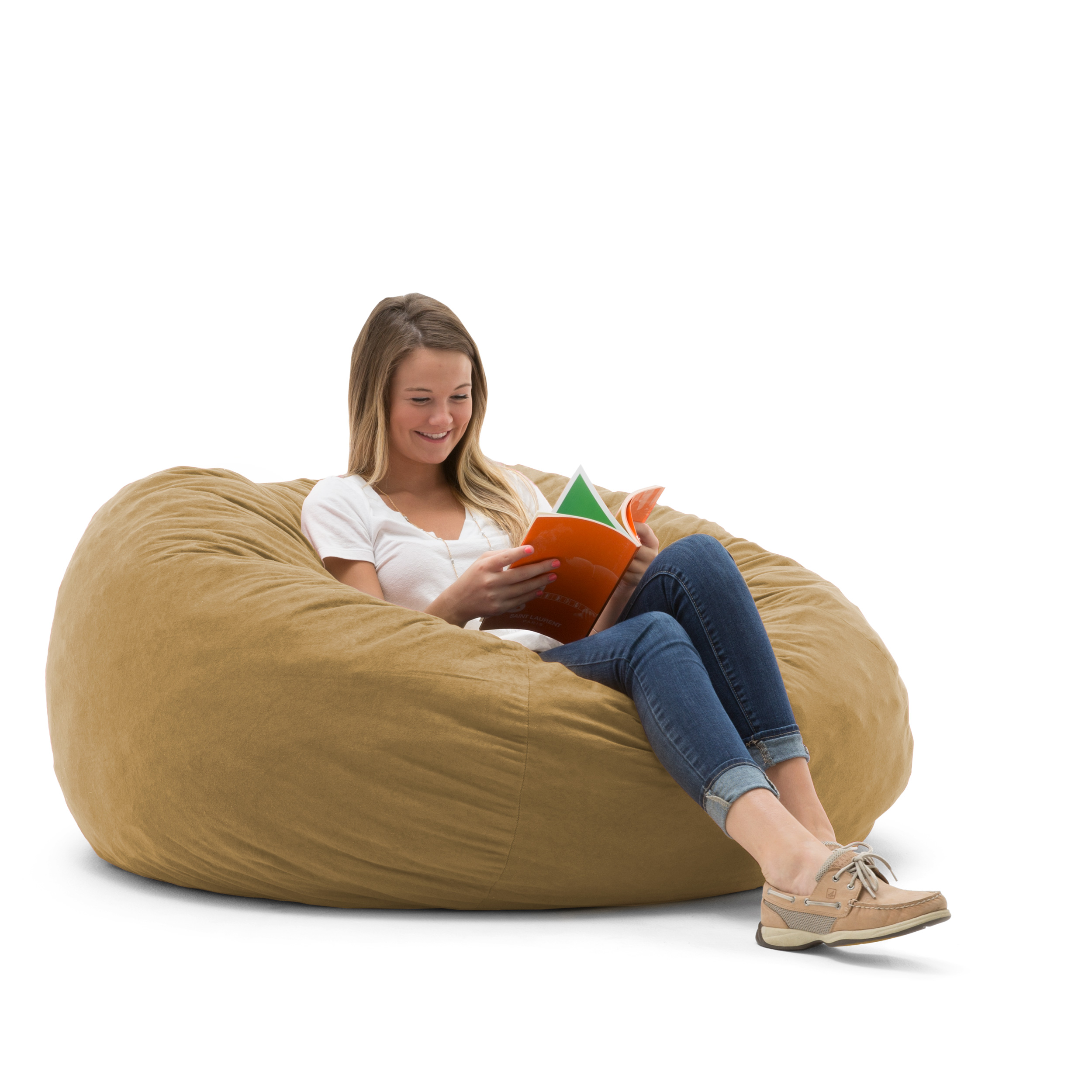 Big Joe Large 4' Fuf Bean Bag Chair, Multiple Colors/Fabrics
